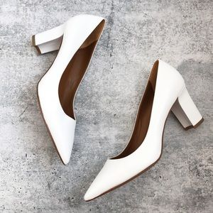 New Aquatalia Michaela White Leather Pumps
